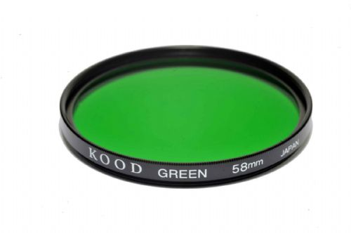 Kood High Quality Optical Glass Green Filter Made in Japan 58mm